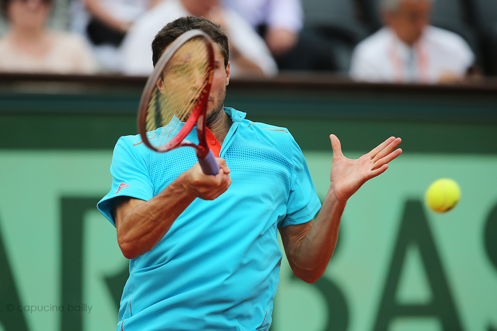 Roland Garros. Paris, France. May 30th 2012.French player Gilles SIMON against Brian BAKER.