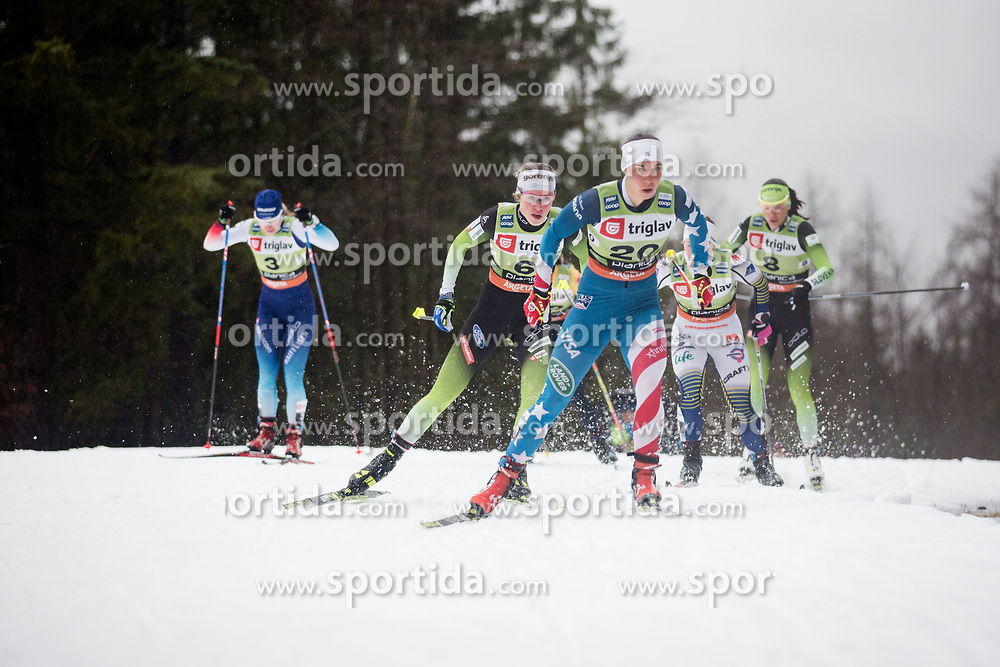 KERN Julia (USA) during the Ladies sprint free race at FIS Cross Country World Cup Planica 2019, on December 21, 2019 at Planica, Slovenia. Photo By Peter Podobnik / Sportida