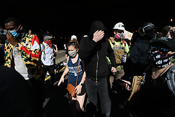 Chaos erupts as law enforcement officers deploys tear gas at possible exits trapping protesters on the Vine Expressway, in Center City Philadelphia, PA, on June 1, 2020. Moments earlier a BLM march breached a single vehicle police barrier to access the Expressway trough Center City. REUTERS/Bastiaan Slabbers