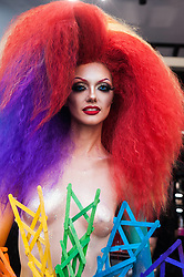 June 24, 2017 - Milan, Milano, Italy - Participants in the annual 'Milano Pride' on June 24, 2017. Hundreds of people demonstrated in favor of gay rights. (Credit Image: © Romano Nunziato/NurPhoto via ZUMA Press)
