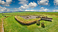 Structure 8 of the Neolithic Barnhouse Settlement archaeological site, circa 3000 BC,  Loch of Harray, Orkney Mainland, Scotland,