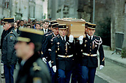 Francois Mitterrand Funeral in his home town of Jarnac in the Charente in south western France 11 January 1996
