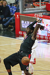 March 15, 2019 - Los Angeles, California, U.S - Los Angeles ClippersÃ• Montrezl Harrell (5) dunks during an NBA basketball game between Los Angeles Clippers and Chicago Bulls Friday, March 15, 2019, in Los Angeles. The Clippers won 128-121. (Credit Image: © Ringo Chiu/ZUMA Wire)