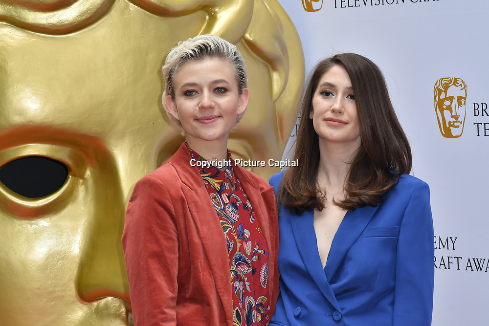 Ellen Robertson and Charly Clive Arrivers at the British Academy Television Craft Awards on 28 April 2019, London, UK.