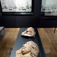 Nederland, Amsterdam , 20 maart 2013..Het gerenoveerde Rijksmuseum gefotografeerd .Op de foto: een zaal met kunst uit de periode 17e ?.Op de foto het hoofd van Michiel de Ruyter..Foto:Jean-Pierre Jans