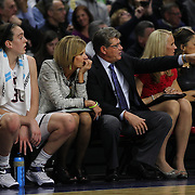 UConn coach Geno Auriemma, during the UConn Vs DePaul, NCAA Women's College basketball game at Webster Bank Arena, Bridgeport, Connecticut, USA. 19th December 2014