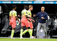 Manchester City manager Josep Guardiola encourages his team during a break in play<br /> <br /> Photographer Alex Dodd/CameraSport<br /> <br /> FA Cup Quarter-Final - Newcastle United v Manchester City - Sunday 28th June 2020 - St James' Park - Newcastle<br />  <br /> World Copyright © 2020 CameraSport. All rights reserved. 43 Linden Ave. Countesthorpe. Leicester. England. LE8 5PG - Tel: +44 (0) 116 277 4147 - admin@camerasport.com - www.camerasport.com