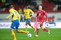 Fotball<br /> 14. Oktober 2015<br /> OBOS Ligaen<br /> Brann Stadion<br /> Brann - Jerv<br /> Jan Jenssen (L) og Dennis Agyake Antwi (M) , Jerv<br /> Ruben Kristiansen (R) , Brann<br /> Foto: Astrid M. Nordhaug