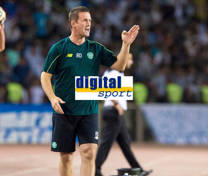 05/08/15 UEFA CHAMPIONS LEAGUE 3RD QUALIFIER 2ND LEG<br /> QARABAG FK V CELTIC<br /> TOFIQ BAHARMOV STADIUM - BAKU<br /> Celtic manager Ronny Deila