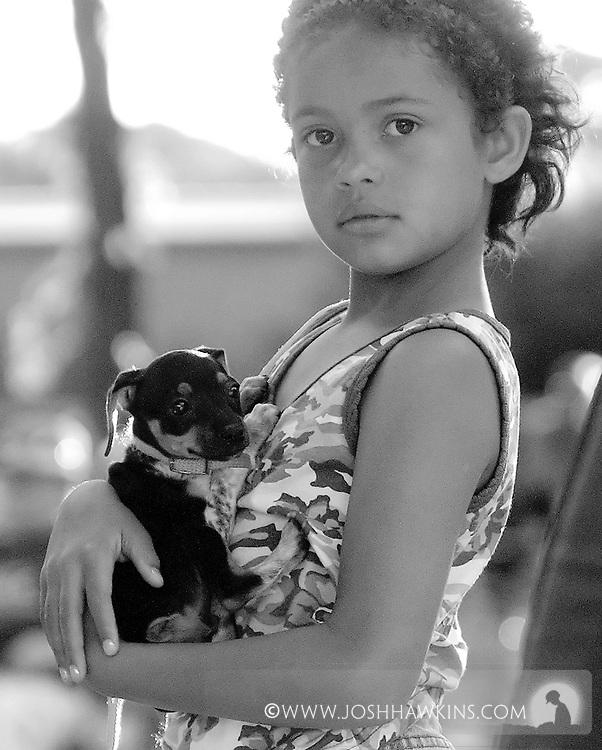 Sheridan Cole with her dog Dora