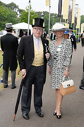 MR & MRS SIMON HEFFER at the 2nd day of the 2013 Royal Ascot Horseracing festival at Ascot Racecourse, Ascot, Berkshire on 19th June 2013.