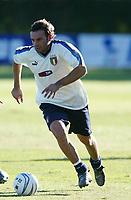 Coverciano 8/10/2003 <br />Italian team training before European qualifing Match againt Azerbaigian.<br />Cristiano Zanetti. Foto Graffiti.