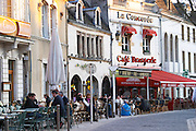 restaurant terrace pl carnot beaune cote de beaune burgundy france