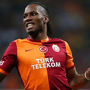 Galatasaray's Didier Drogba during their Turkish superleague soccer derby match Galatasaray between Fenerbahce at the AliSamiYen spor kompleksi TT Arena in Istanbul Turkey on Sunday, 06 April 2014. Photo by Aykut AKICI/TURKPIX