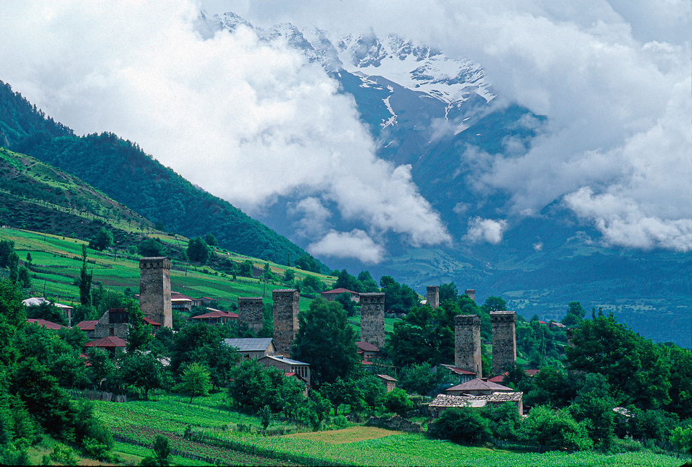 Village of Lenasi, Caucasus Mountains, Svaneti Region, The Country of Georgia