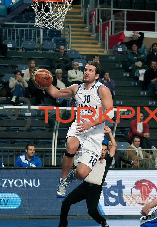 Anadolu Efes's Kerem Tunceri during their Turkish Basketball League match Anadolu Efes between Turk Telekom at Arena in Istanbul, Turkey, Wednesday, January 04, 2012. Photo by TURKPIX