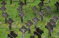 12.06.2014 Wilno Litwa Cmentarz na Antokolu tzw. wojskowy ** Antakalnis Cemetery, sometimes referred as Antakalnis Military Cemetery, is an active cemetery in the Antakalnis district of Vilnius, Lithuania **  N/z kwatera zolnierzy polskich poleglych w latach 1919-1921 w walkach z bolszewikami fot Michal Kosc / AGENCJA WSCHOD