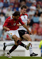 Fotball<br /> Foto: SBI/Digitalsport<br /> NORWAY ONLY<br /> <br /> Clyde v Manchester United, Preseason Friendly. 16/07/2005.<br /> <br /> Manchester United's Ruud van Nistelrooy strikes his second goal.