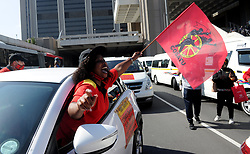South Africa - Cape Town - 07 -October - 2020 Cosatu, Saftu strike to bring Cape Town to a grinding halt. Cosatu and the SA Federation of Trade Unions (Saftu) have vowed to bring the country to a standstill through various protest marches and pickets against state capture, corruption and gender-based violence (GBV) on Wednesday.The federations were due to embark in joint protests in several big and small towns in the country to also express their disgust at the government for failing to implement the long awaited salary increases for public servants. Photographer Ayanda Ndamane /African News Agency (ANA)
