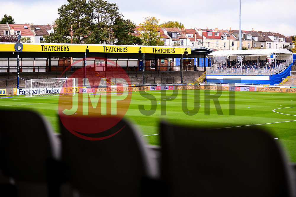 A general view of the Memorial Stadium ahead of kick off against Burton Albion - Mandatory by-line: Dougie Allward/JMP - 17/10/2020 - FOOTBALL - Memorial Stadium - Bristol, England - Bristol Rovers v Burton Albion - Sky Bet League One