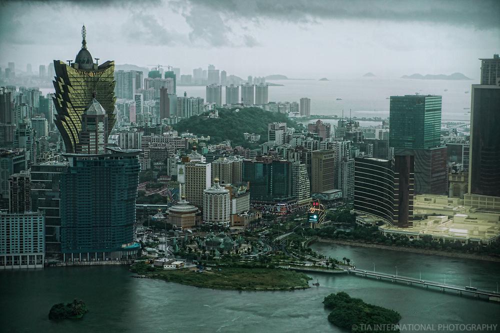 Macau featuring the Grand Lisboa (left) & Wynn Hotels
