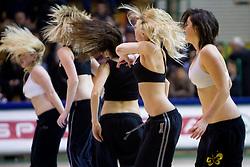 Cheerleaders @ Afne during basketball match between KK Krka (SLO) and Antwerp Giants (BEL) in 3rd Round of Group J of EuroChallenge, on February 1, 2011 in Arena Leona Stuklja, Novo mesto, Slovenia. Krka defeated Antwerp 62-46. (Photo By Vid Ponikvar / Sportida.com)