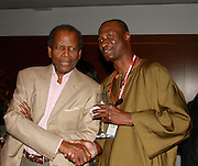 **EXCLUSIVE**.Sidney Poitier ..Pras Michel of The Fugees Honoring The First Ladies of Africa at a Cocktail Reception in partnership US Doctors For AFRICA..WP Wolfgang Puck Restaurant..Pacific Design Center..West Hollywood, CA, USA..Monday, April 20, 2009..Photo By Celebrityvibe.com.To license this image please call (212) 410 5354; or Email: celebrityvibe@gmail.com ; .website: www.celebrityvibe.com.