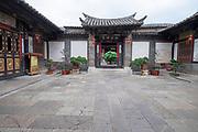 Interior courtyard, Zhu Family house, Jianshui Ancient Town, Yunnan Province, China