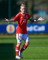 YSTRAD MYNACH, WALES - Wednesday, April 5, 2017: Wales' Jessica Fishlock in action during the Women's International Friendly match against Northern Ireland at Ystrad Mynach. (Pic by Laura Malkin/Propaganda)