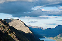 Besseggen ridge in afternoon light above lake Gjende, Jotunheimen national park, Norway