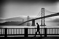 San Francisco - Morning Stroll @ The Embarcadero & Bay Bridge (monochrome)