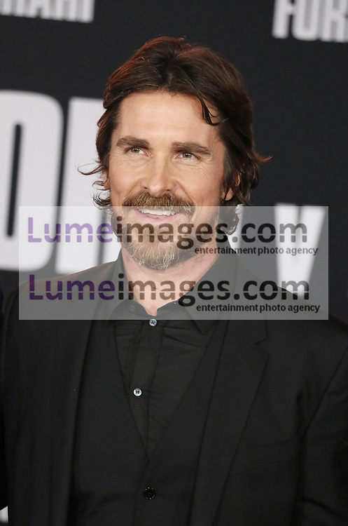 Christian Bale at the Los Angeles premiere of 'Ford V Ferrari' held at the TCL Chinese Theatre in Hollywood, USA on November 4, 2019.