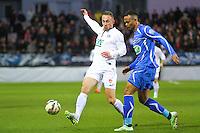 Gaetan COURTET / Remi MULUMBA - 05.03.2015 - Brest / Auxerre - 1/4Finale Coupe de France<br />Photo : Maxime Kerriou / Icon Sport
