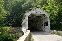 Valley Forge National Historical Park. Covered bridge..Philadelphia, Pennsylvania, PA USA.  Photo copyright Lee Foster, 510-549-2202, lee@fostertravel.com, www.fostertravel.com.  Photo 368-30331.