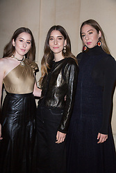 Este Haim, Alana Haim and Danielle Haim arriving the Chanel 'Code Coco' Watch Launch Party as part of the Paris Fashion Week Womenswear Spring/Summer 2018 on October 3, 2017 in Paris, France, October 03 2017. Photo by Nasser Berzane/ABACAPRESS.COM
