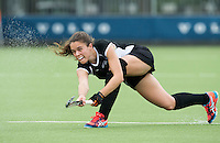 BREDA (Neth.)  Tarryn Davey of NZ during the match  New Zealand vs England U21 women . Volvo Invitational Tournament U21. COPYRIGHT KOEN SUYK