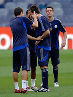 Photo: Richard Lane.<br />Chelsea training session. UEFA Champions League. 30/10/2006. <br />Chelsea captain John Terry has his ears flicked by Carlo Cudicini during a training ground game.