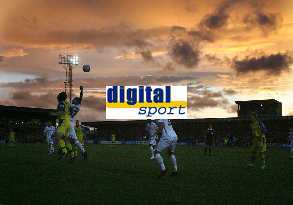 Photo: Rich Eaton.<br /> <br /> Torquay United v Norwich City. Carling Cup. 23/08/2006. Norwich City and Torquay United play out their game under a  spectacular evening sky
