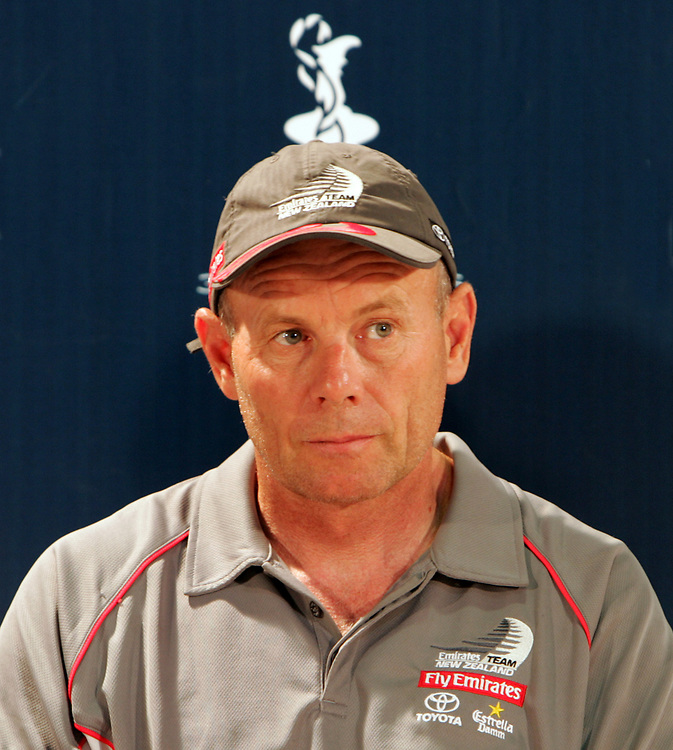 Emirates Team New Zealand: Grant Dalton<br /> Syndicate Heads and AC CEO Opening Press Conference<br /> Valencia, Louis Vuitton, Act 4&5<br /> June 23, 2005<br /> © Daniel Forster