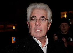 © Licensed to London News Pictures. 15/02/2012. London, U.K..MAX CLIFFORD gives a statement from outside belgravia police station where he spent the whole day on sexual abuse allegations..Photo credit : Rich Bowen/LNP