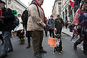 London, UK. Saturday, February 27th 2016. Stop Trident: CND demonstration against Britain's Trident nuclear weapons system. Thousands of protesters made this Britain's biggest anti-nuclear weapons rally in a generation. Demonstrators gathered from far and wide to protest against the renewal of Trident. Many coming from Scotland, where Britain's nuclear deterrent is based.