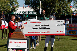 Weishaupt Philipp, GER<br /> Spruce Meadows Masters - Calgary 2017<br /> © Hippo Foto - Dirk Caremans<br /> 10/09/2017, Weishaupt Philipp, GER, Keith Creel,<br />