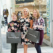 08.09. 2017.                             <br /> Launch of  Limerick Racecourse and Keanes Most Stylish Lady. <br /> Pictured at Carrig Donn, The Crescent Shopping Centre were left to right, Yvonne Ryan, Sinead O'Brien, Sinead's Curvy Style and Siobhan Hickey. Picture: Alan Place