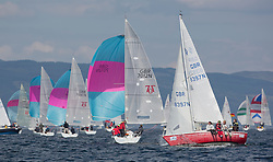 Day three of the Silvers Marine Scottish Series 2016, the largest sailing event in Scotland organised by the  Clyde Cruising Club<br /> Racing on Loch Fyne from 27th-30th May 2016<br /> <br /> One Design fleet with GBR7012N, Mad Rafiki, Mark Homer, HSC/CCC, Hunter 707<br /> <br /> Credit : Marc Turner / CCC<br /> For further information contact<br /> Iain Hurrel<br /> Mobile : 07766 116451<br /> Email : info@marine.blast.com<br /> <br /> For a full list of Silvers Marine Scottish Series sponsors visit http://www.clyde.org/scottish-series/sponsors/