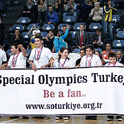 Fenerbahce Ulker's and Olympiacos's during their Euroleague Basketball Game 7 match Fenerbahce Ulker between Olympiacos at Sinan Erdem Arena in Istanbul, Turkey, Thursday, December 01, 2011. Photo by TURKPIX