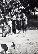 vintage rural France family portrait