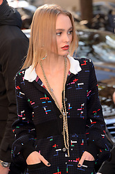Lily Rose Depp arriving at the Chanel show as a part of Paris Fashion Week Ready to Wear Spring/Summer 2017 on October 4, 2016 in Paris, France. Photo by Julien Reynaud/APS-Medias/ABACAPRESS.COM