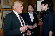 Antony Price; Peter Savile; Anna Blessman, BRIONI FRAGRANCE LAUNCH. Annabels. Berkeley Sq. London. 14 October 2009.