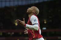 Photo: Olly Greenwood.<br />Arsenal v Bolton Wanderers. The FA Cup. 28/01/2007. Arsenal's Thierry Henry can't beleive his back heel was cleared off the line