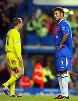 Photo: Scott Heavey.<br /> Chelsea v Charlton Athletic. FA Barclaycard Premiership. 08/02/2004.<br /> Adrian Mutu cant believe he hasnt scored